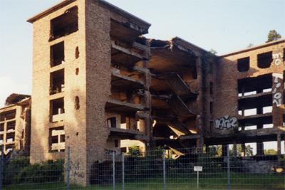Ruine eines Unterkunftshauses im Norden