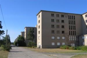 Unterkunftsgebäude im Nordteil